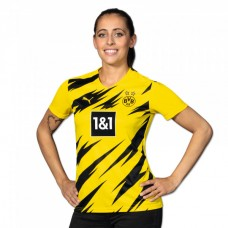 Women's Borussia Dortmund Puma Home Football Soccer T-Shirt 2020 2021