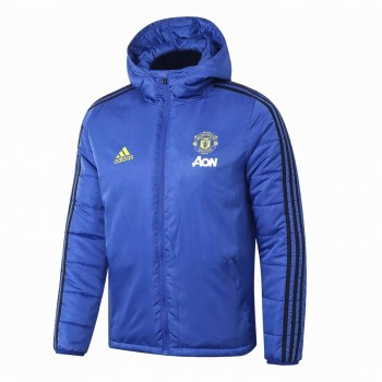 Manchester United Adidas Windbreaker Jacket Blue 2020 2021