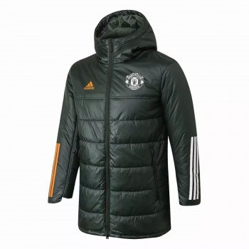 Manchester United Olive Green Winter Jacket 2020 2021