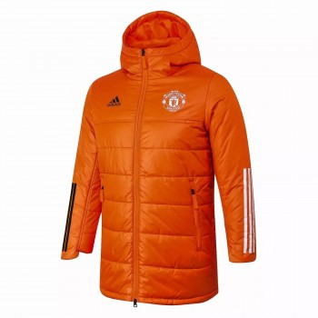 Manchester United Orange Winter Jacket 2020 2021
