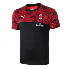 AC Milan Black Training Soccer T-Shirt 2019/20