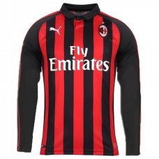 AC MILAN HOME LONG SLEEVE Soccer T-Shirt 2018/19