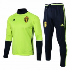 Sweden Green Training Technical Soccer Tracksuit Euro 2016/17