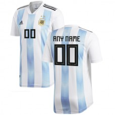 Argentina National Team adidas 2018 Home Custom Soccer T-Shirt