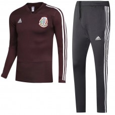 Mexico Brown Presentation Training Soccer Tracksuit 2018/19